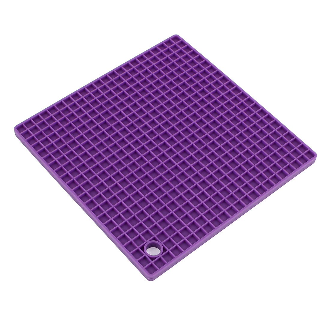 Silicone Square Shaped Antislip Bowl Cup Heat Resistant Pad Mat Purple