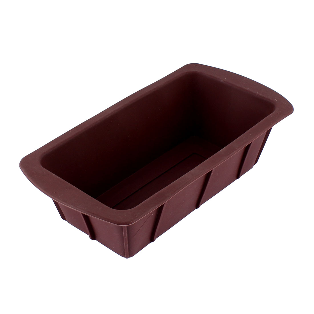 Bakery Kitchen Silicone Rectangle Shape Cake Bread Mold Mould Pan Maker Chocolate Color