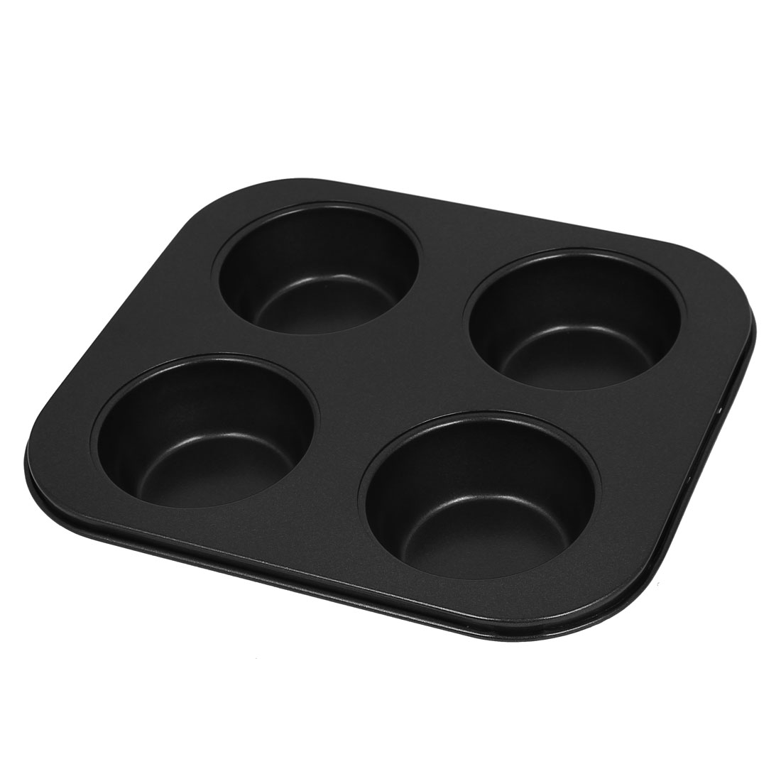 Bakery Non-stick 4 Compartments Cake Cupcake Baking Mold Mould Tool Black