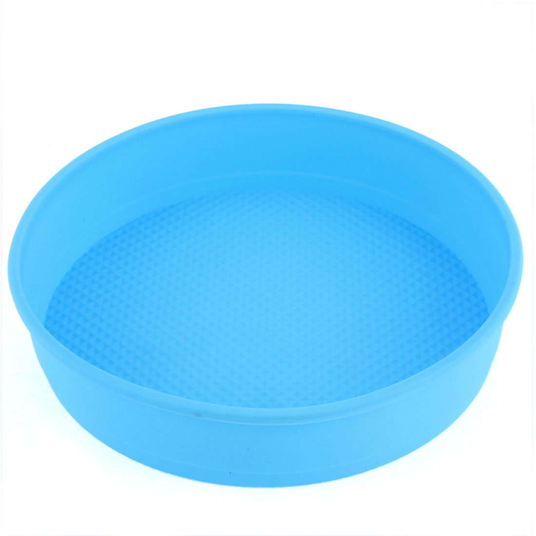 "Silicone Round Shaped Cake Baking Mold Pan Blue 7.5"" Dia"