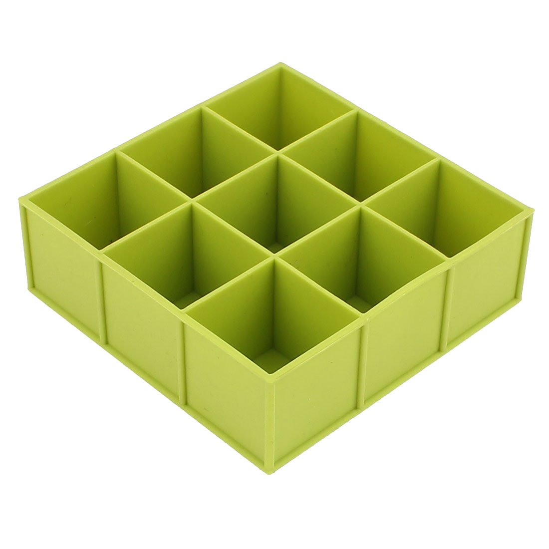 Silicone 9 Square Shaped Cavities Candy Muffin Cake Baking Mold Green