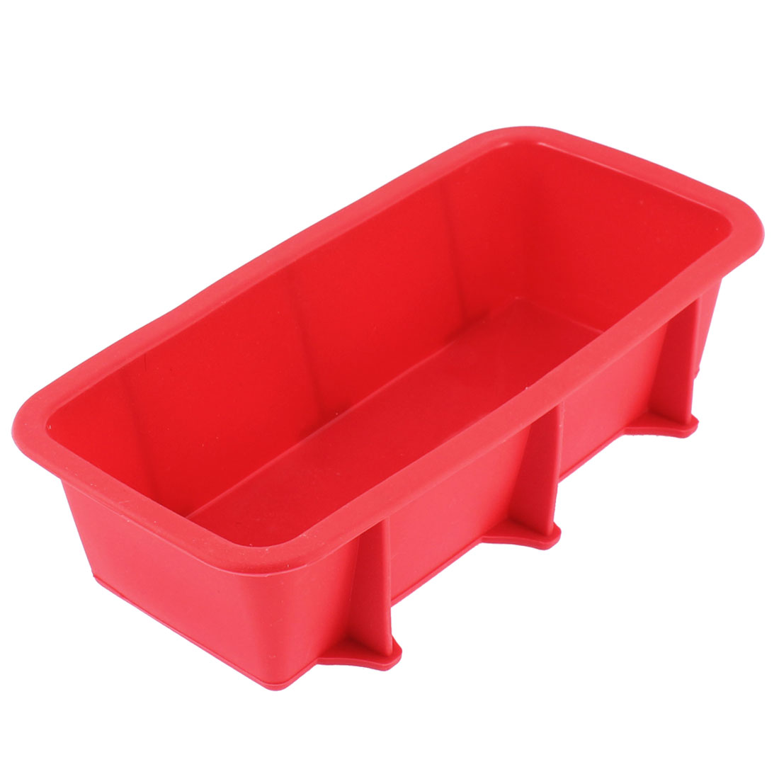 Silicone Flat Bottom Toast Bread Baking Mold Mould Pan Maker Red 25 x 12.5cm