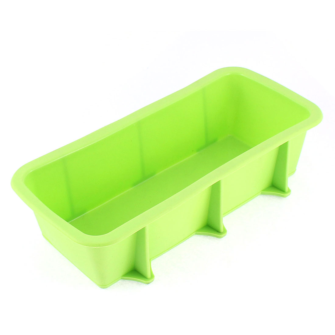 Silicone Flat Bottom Toast Bread Baking Mold Mould Pan Maker Green 25 x 12.5cm