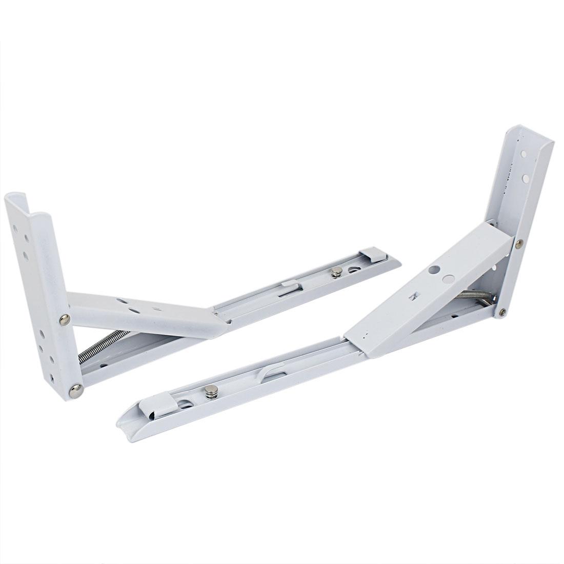 "Kitchen Counter 90 Degree L Shaped Folding Shelf Bracket 12"" Long 2 Pcs"