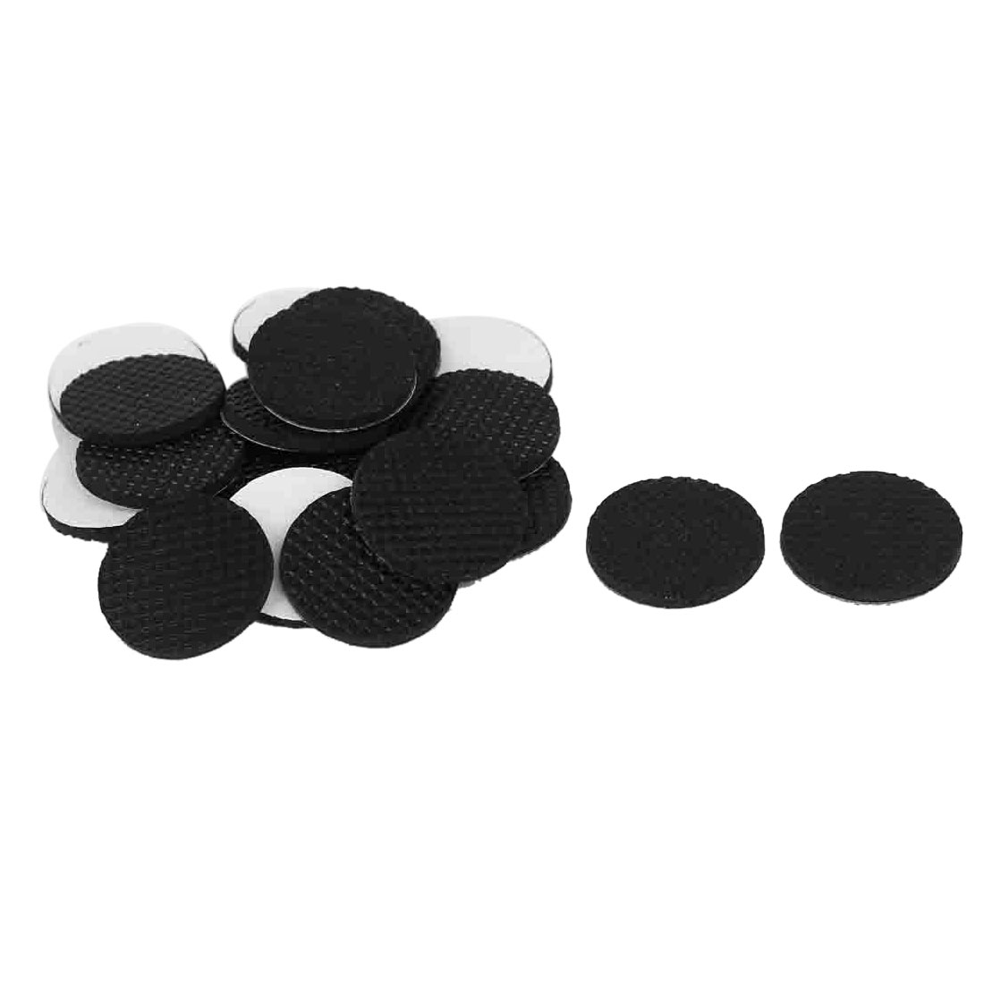 20mm Dia Anti Slip Adhesive Rubber Pad 20 Pcs for Furniture Chair Table Feet