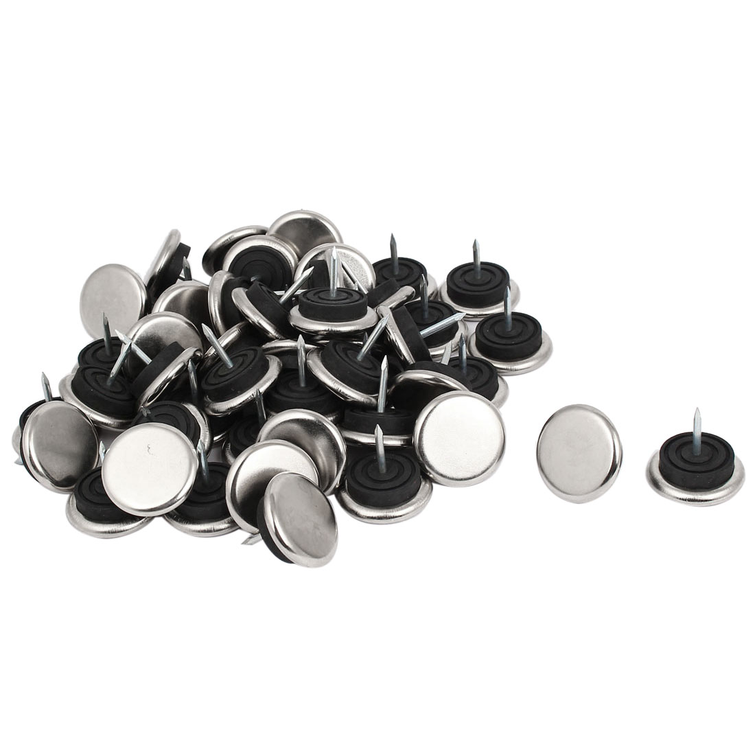 32mm Metal Furniture Chair Table Leg Glide Slide Nail Protector 50 Pcs