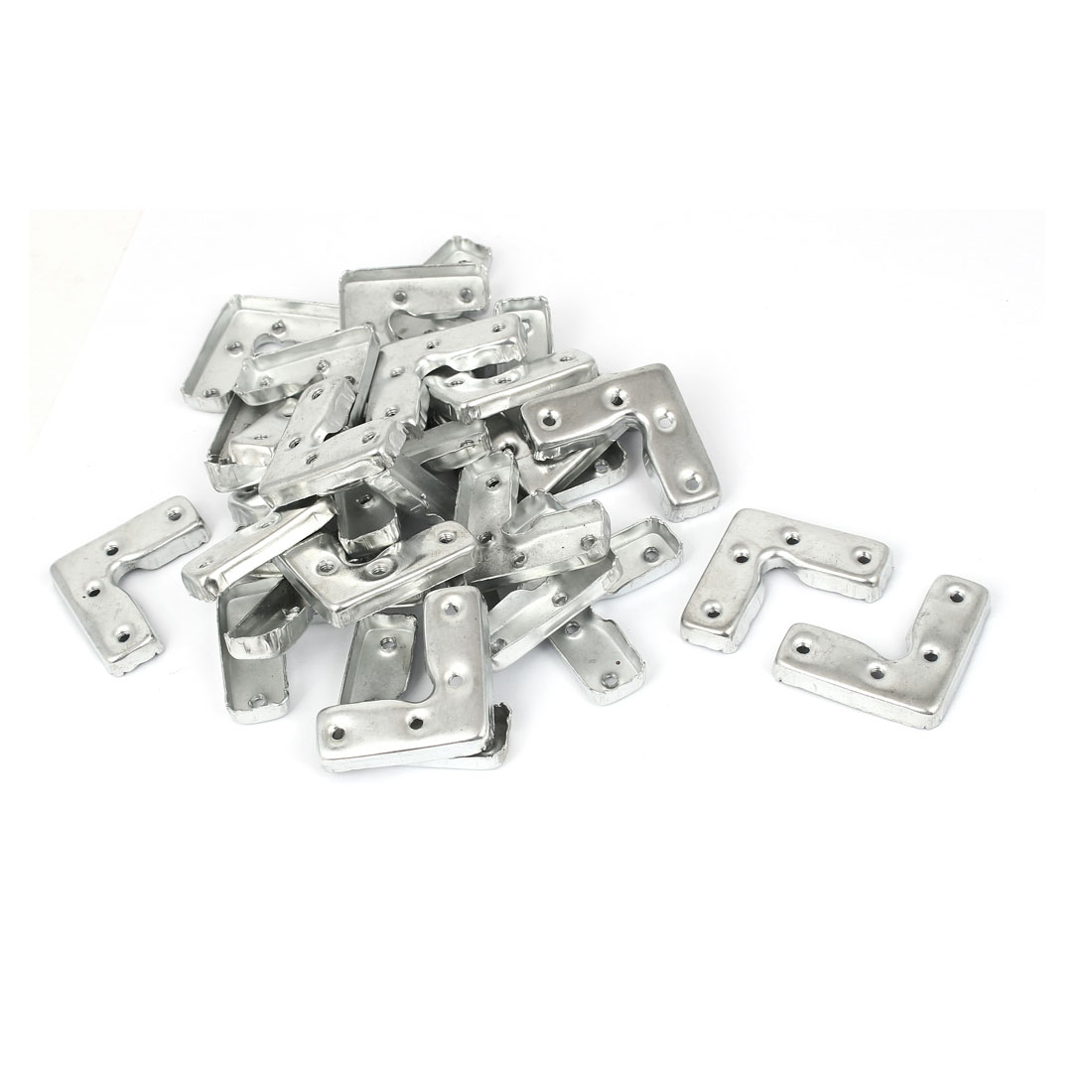 45mm x 45mm x 16mm Metal Corner Brace Joint Right Angle Bracket 30 Pcs