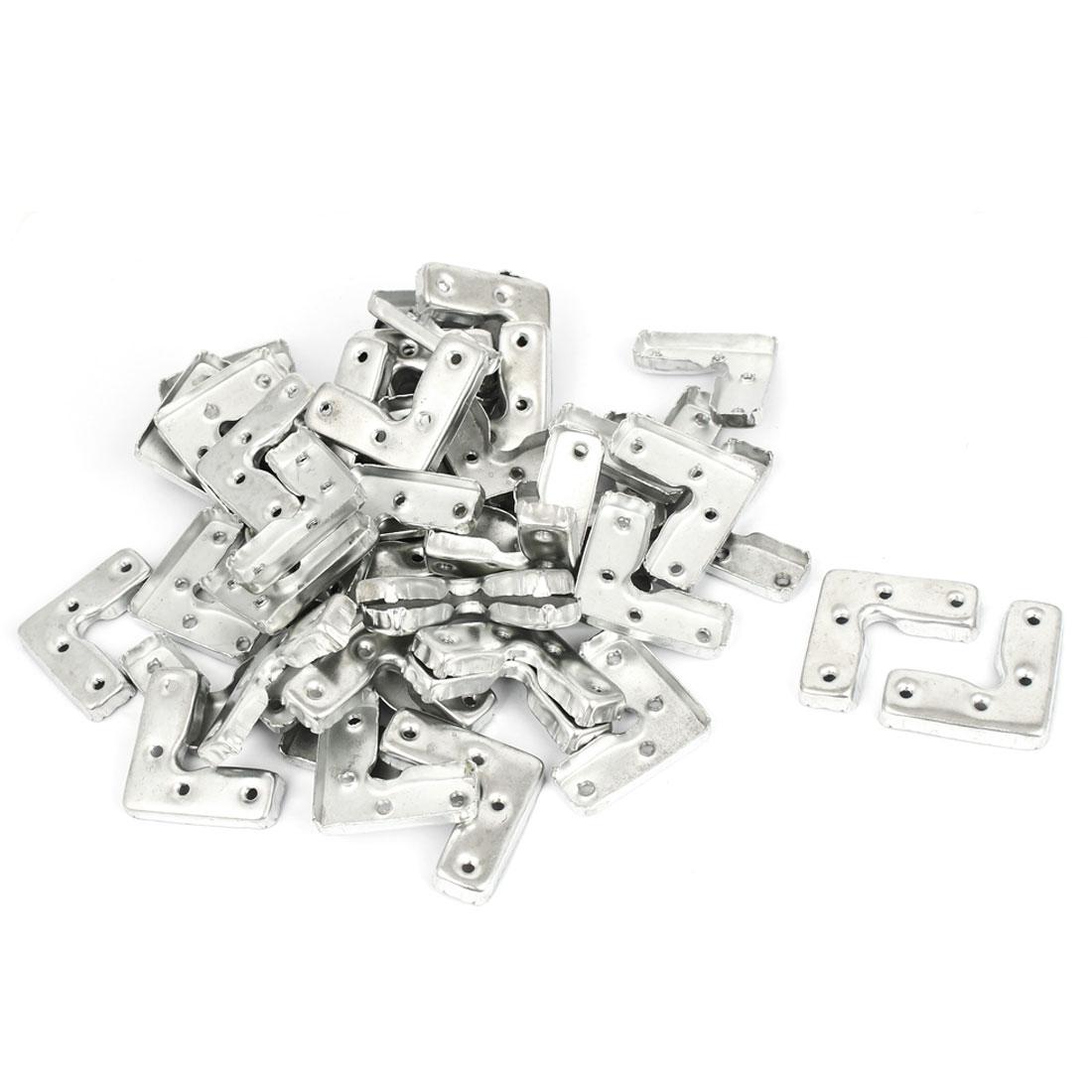 45mm x 45mm x 16mm Metal Corner Brace Joint Right Angle Bracket 50 Pcs