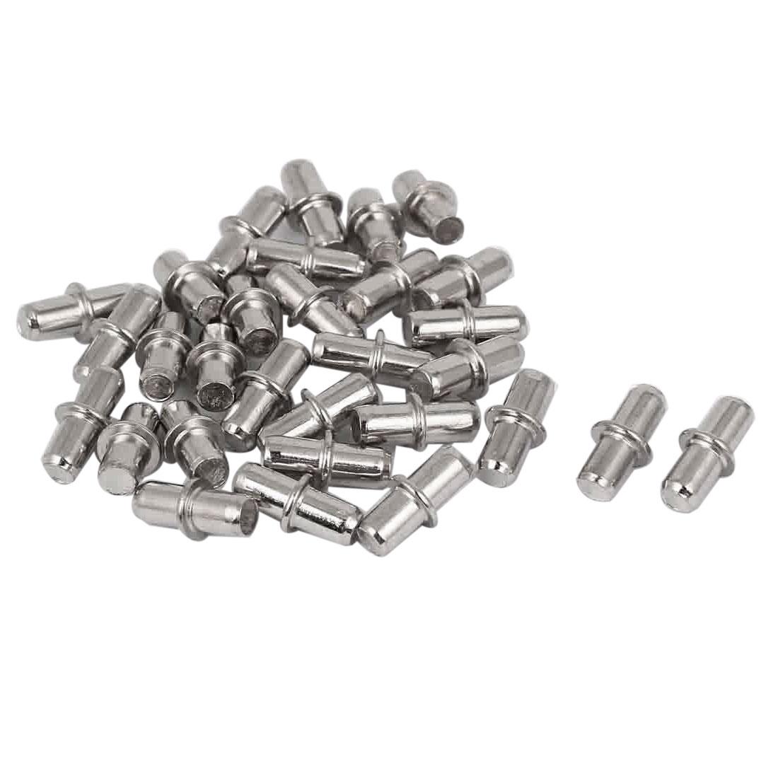 5mm Metal Furniture Cupboard Shelf Pins Pegs Supports Holder 30 Pcs