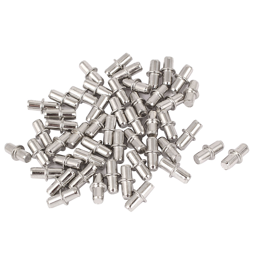 5mm Metal Furniture Cupboard Shelf Pins Pegs Supports Holder 50 Pcs