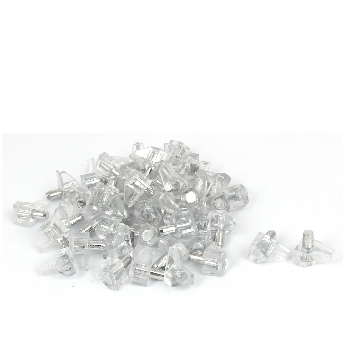 50 Pcs 5mm Dia Support Peg Stud Pin for Kitchen Shelf Cupboard Cabinet