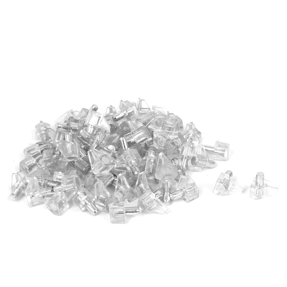 100 Pcs 5mm Dia Support Peg Stud Pin for Kitchen Shelf Cupboard Cabinet