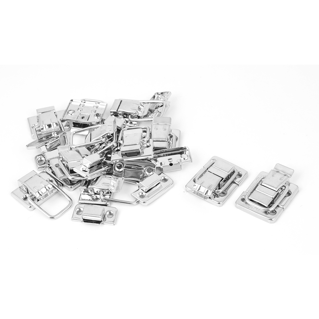 Stainless Steel Toggle Latch Clasp Silver Tone 12 Pcs for Box Case Suitcase