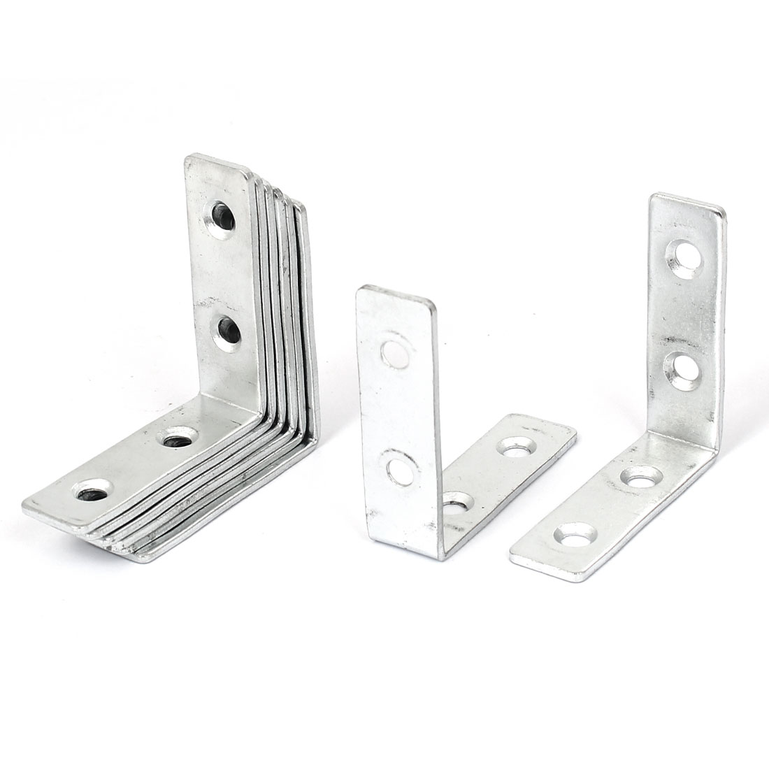 50mm x 50mm 4 Holes L Shaped Corner Brace Angle Brackets Support Fastener 8 Pcs