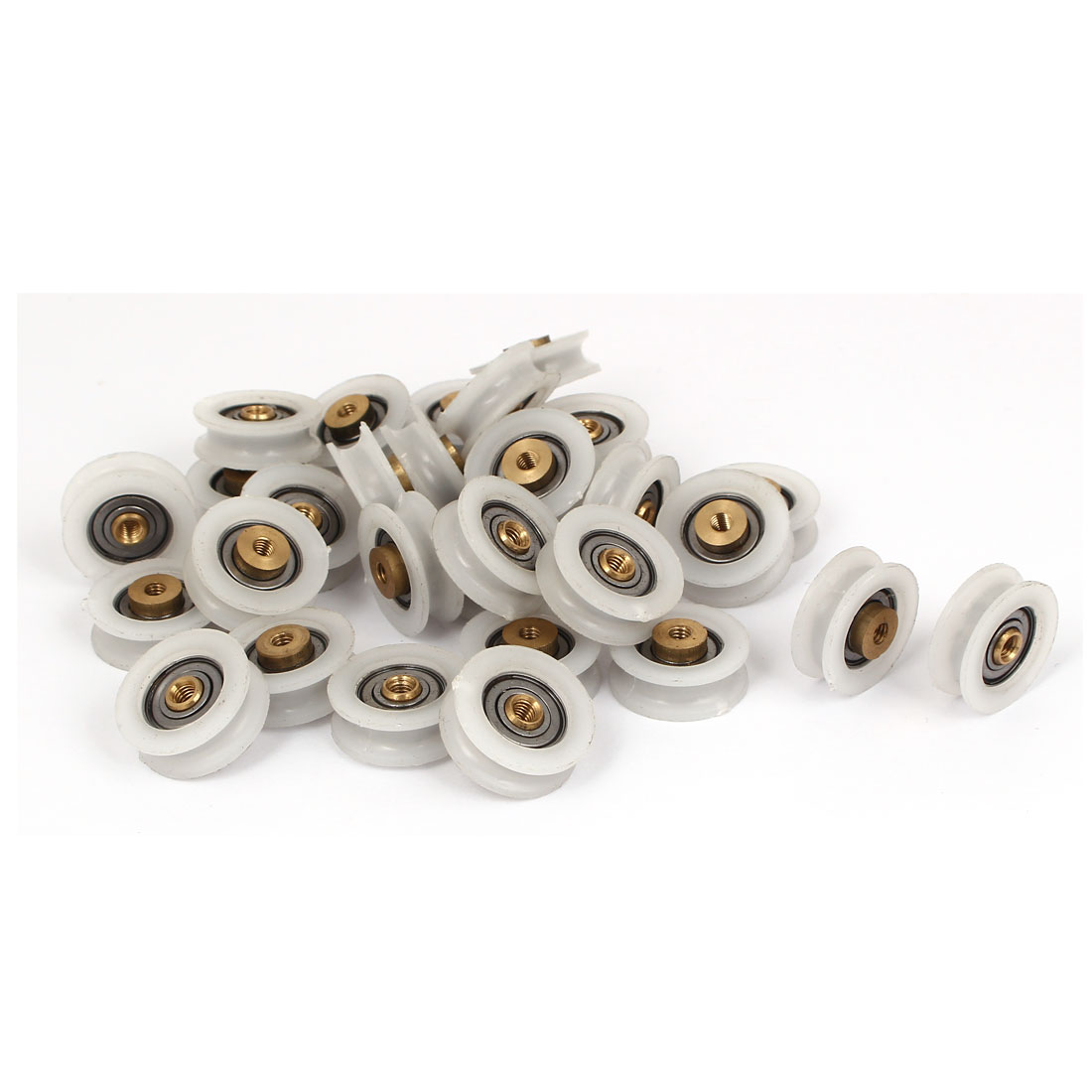 Round Groove Nylon Pulley Wheels Roller 30 Pcs for 5mm Rope