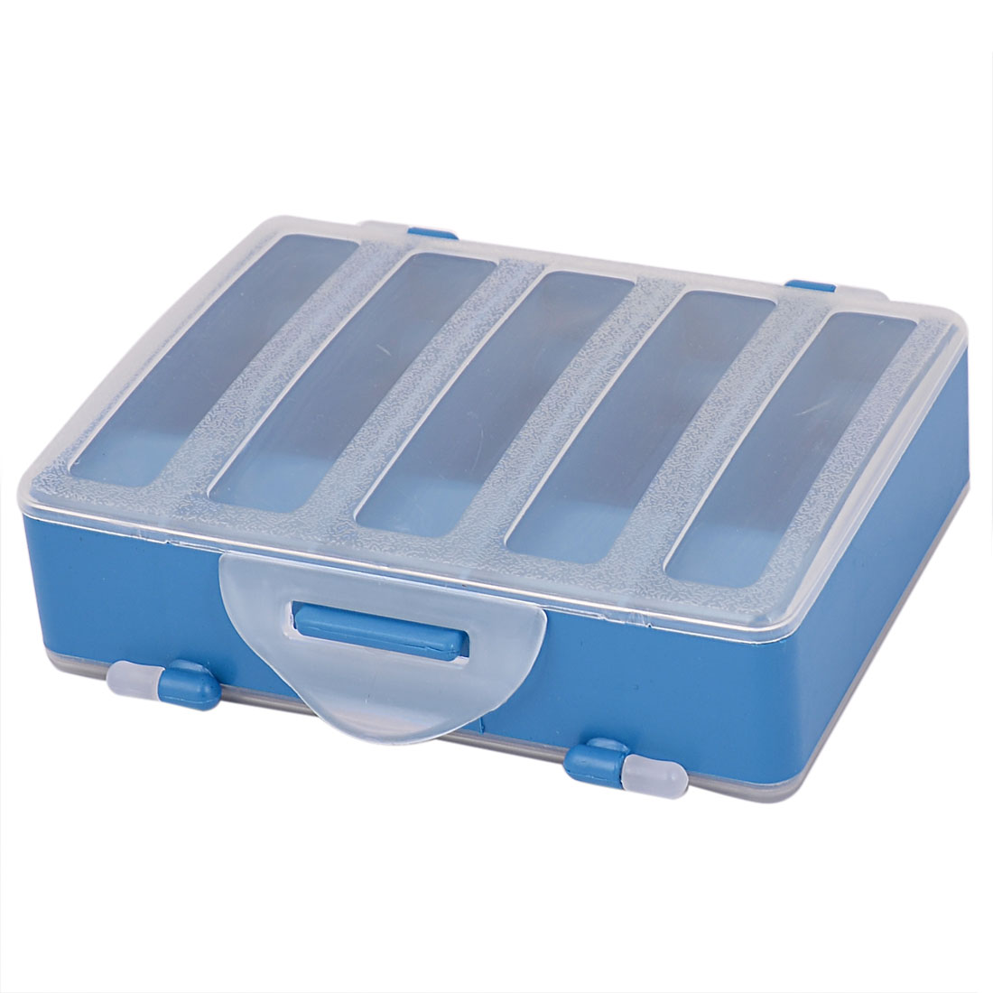 Plastic Two Sided 10-Compartment Fishing Tackle Storage Case Box