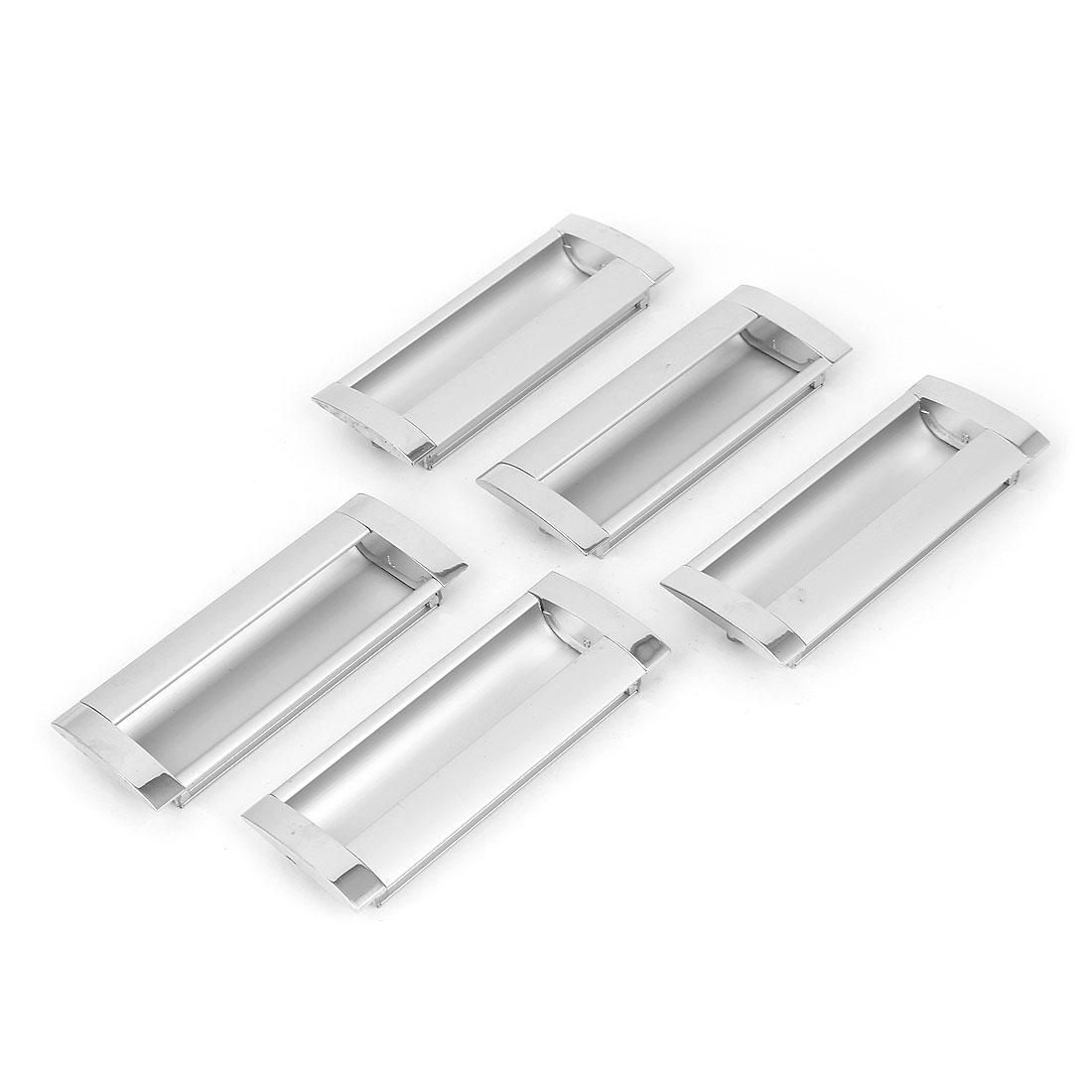Rectangular Flush Pulls Drawer Cabinet Cupboard Sliding Door Handle 5 Pcs