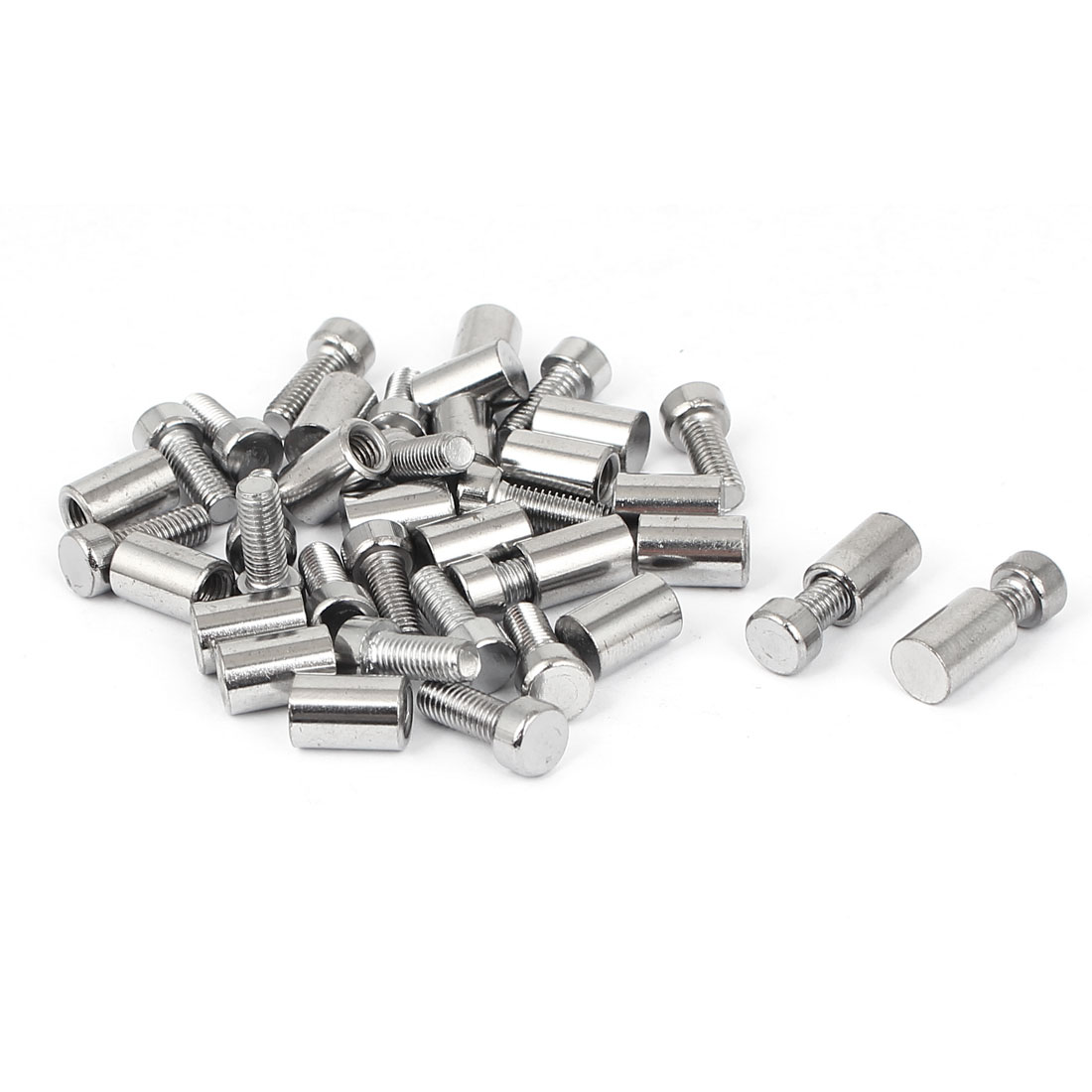 8mm x 20mm Stainless Steel Standoff Pins Screw Glass Picture Frame Hanger 20 Pcs