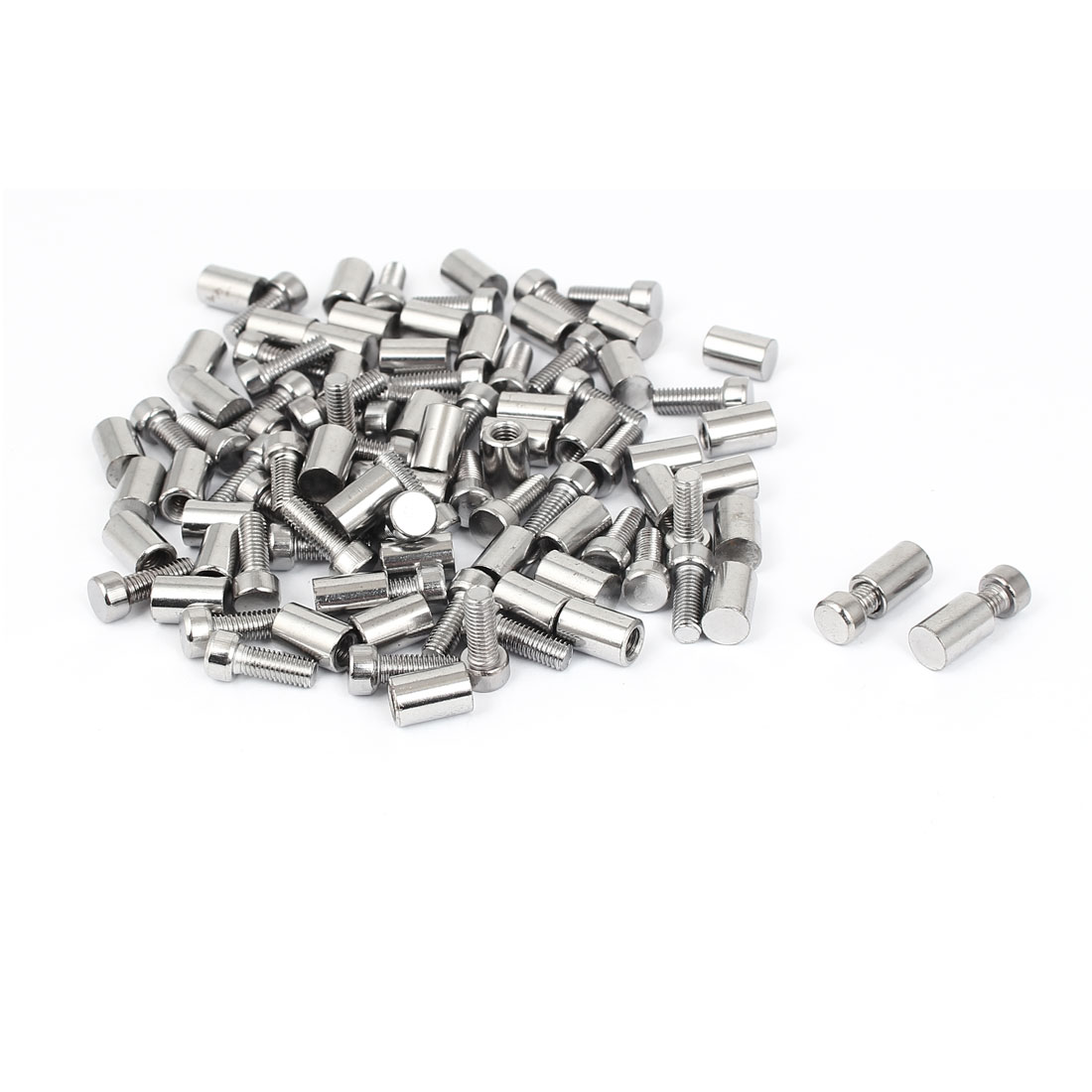8mm x 20mm Stainless Steel Standoff Pins Screw Glass Picture Frame Hanger 50 Pcs