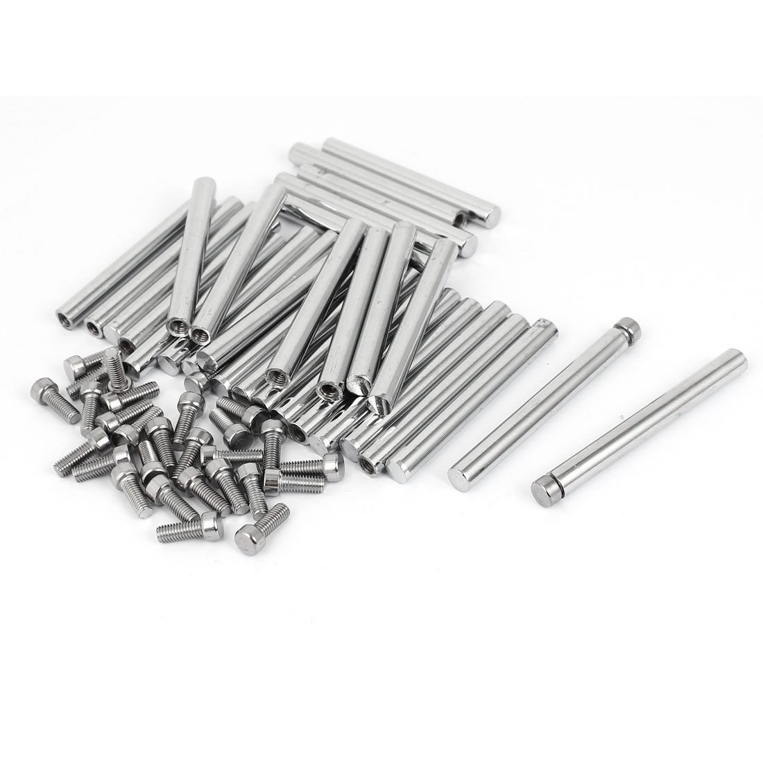 8mm x 75mm Stainless Steel Advertisment Nails Glass Wall Connector Standoff 30 Pcs