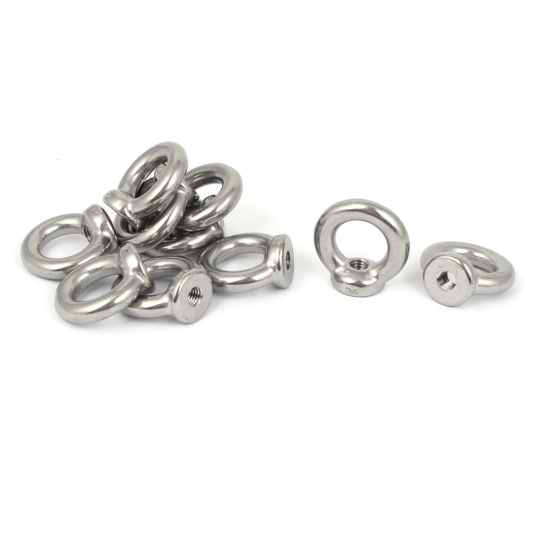 M8 Female Thread Stainless Steel Lifting Eye Nuts Ring 10 Pcs