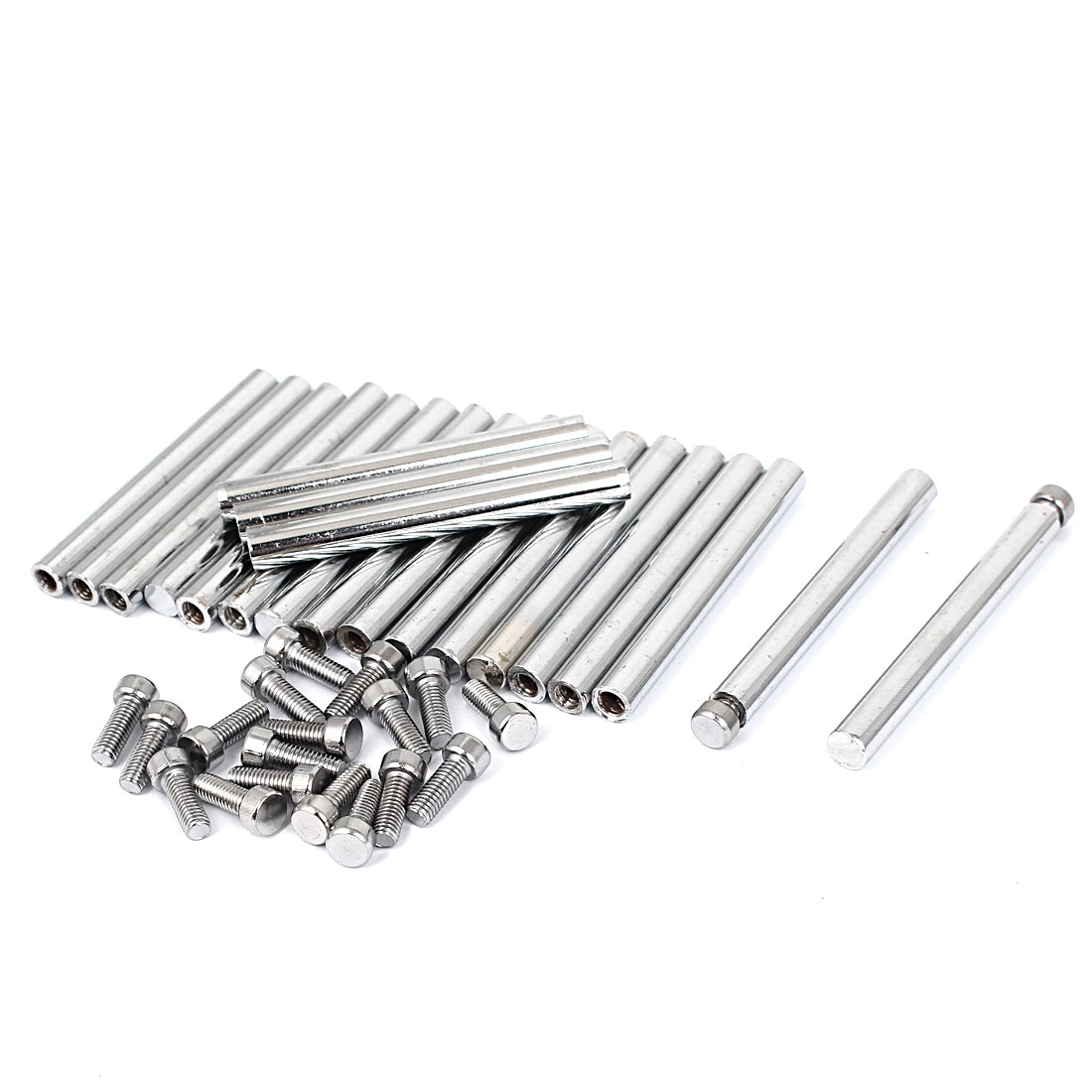 8mm x 75mm Stainless Steel Advertisment Nails Glass Wall Connector Standoff 20 Pcs
