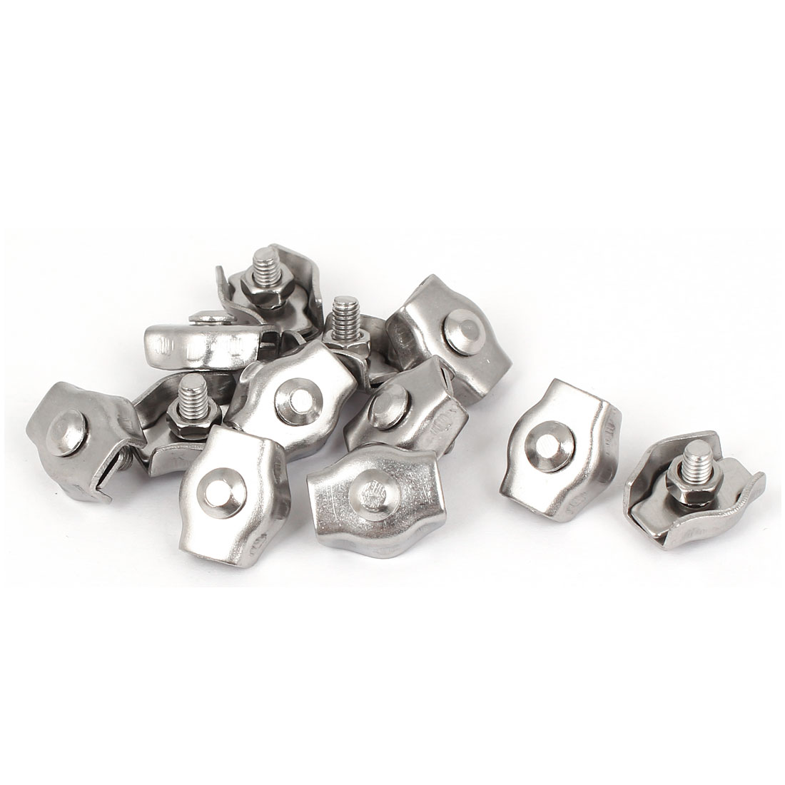 M3 Stainless Steel Simplex Wire Rope Clip Cable Clamp Single Bolt 12 Pcs