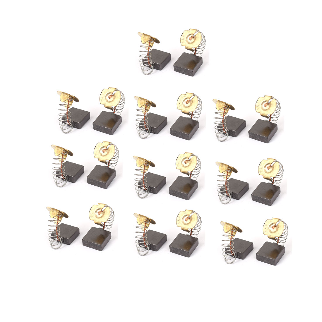 17mm x 18mm x 7mm Motor Carbon Brushes 20 Pcs for Generic Electric Motor