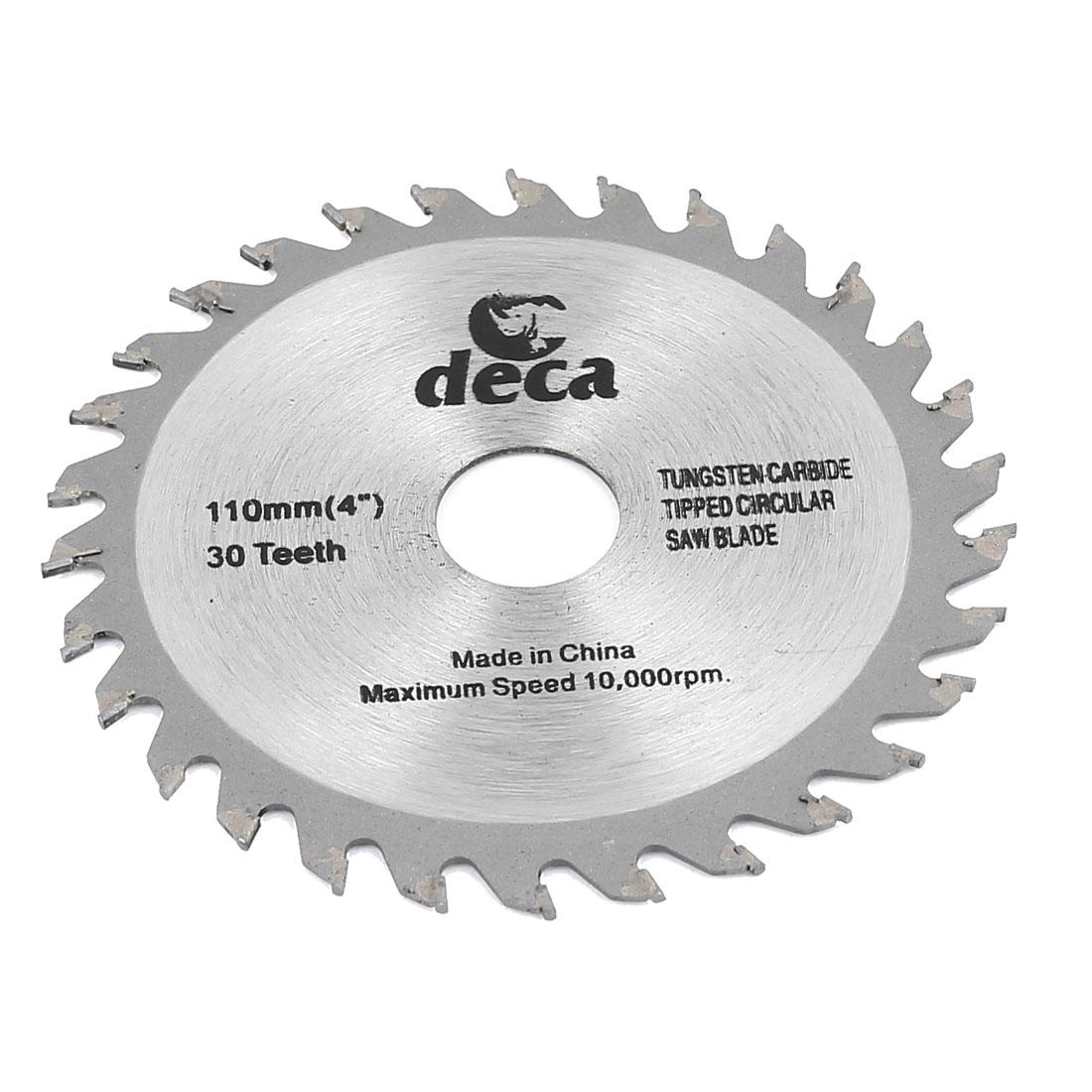 "Wood Cutting 110mm 4"" 30T Teeth Slitting Circular Saw Cutter Rotary Tool"
