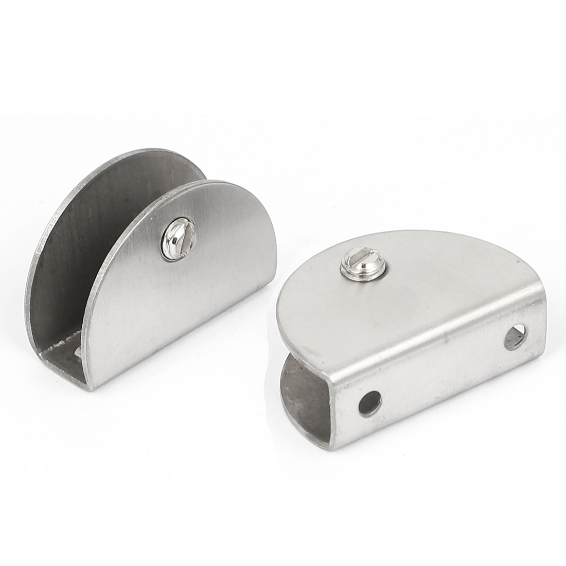 Stainless Steel 13mm Thickness Glass Shelf Clip Clamp Bracket Support 2 Pcs