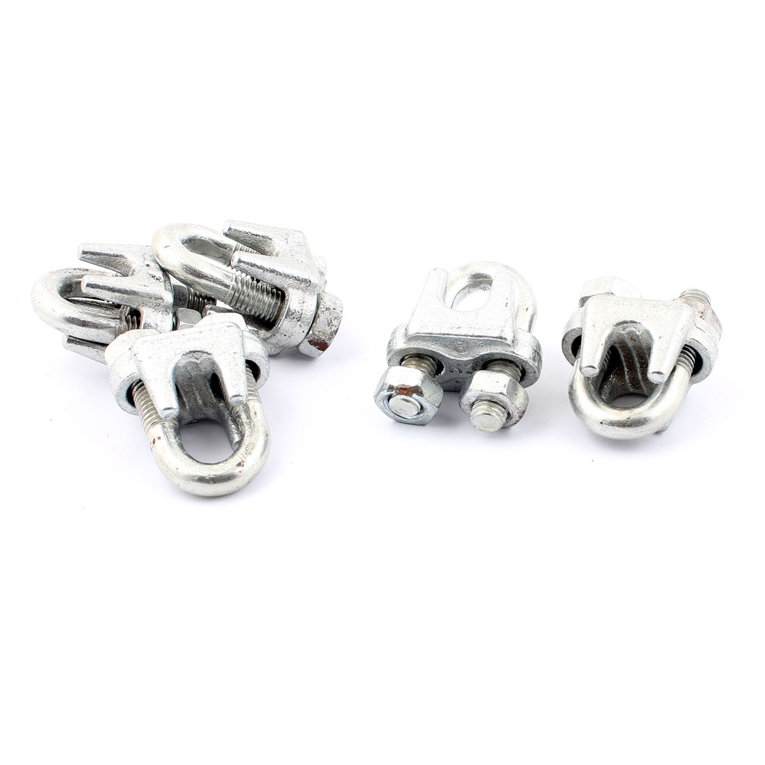 U Shape Metal Saddle Clamp Wire Rope Cable Clips 5pcs