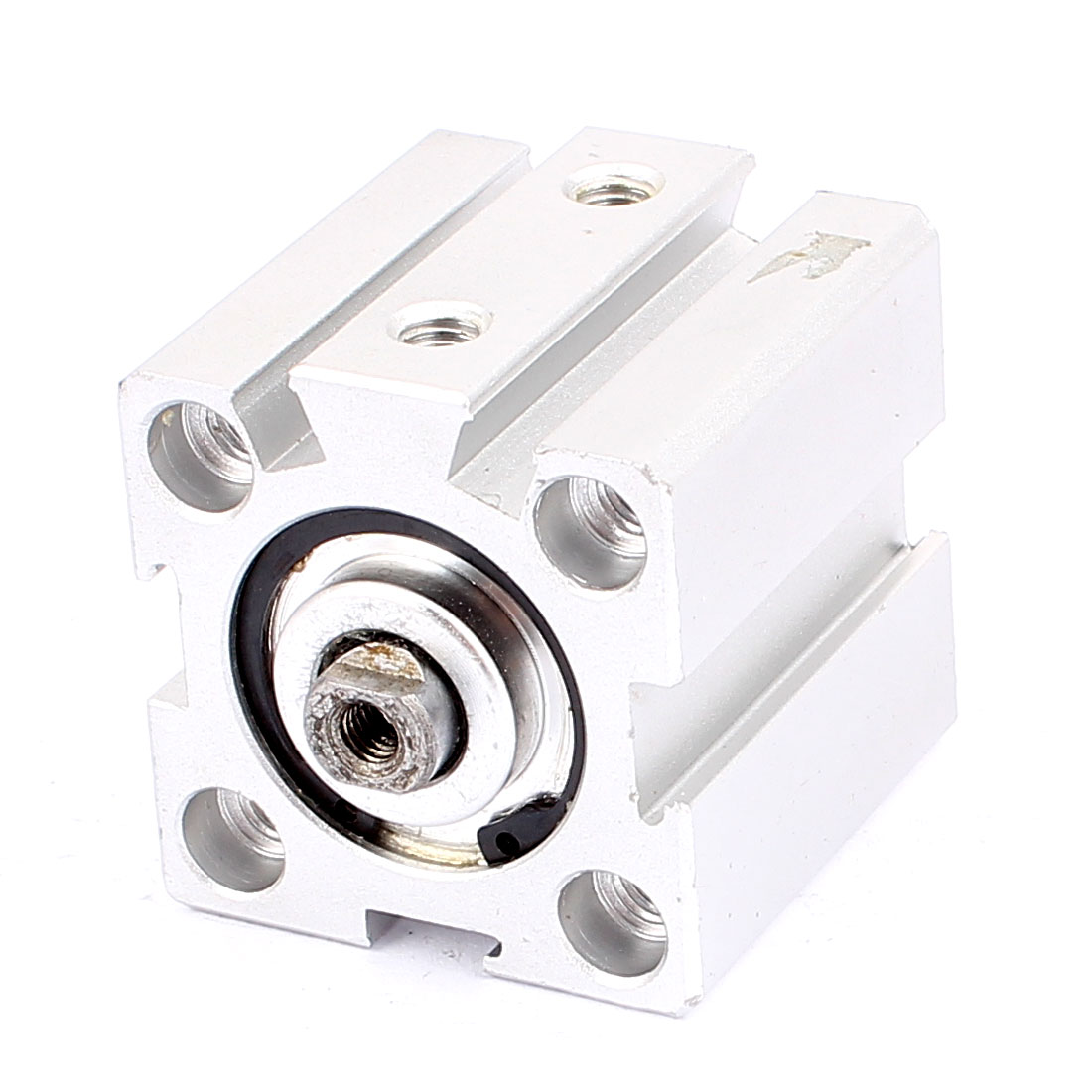 Single Rod 35mm Bore Pneumatic Air Cylinder Actuator Silver Tone