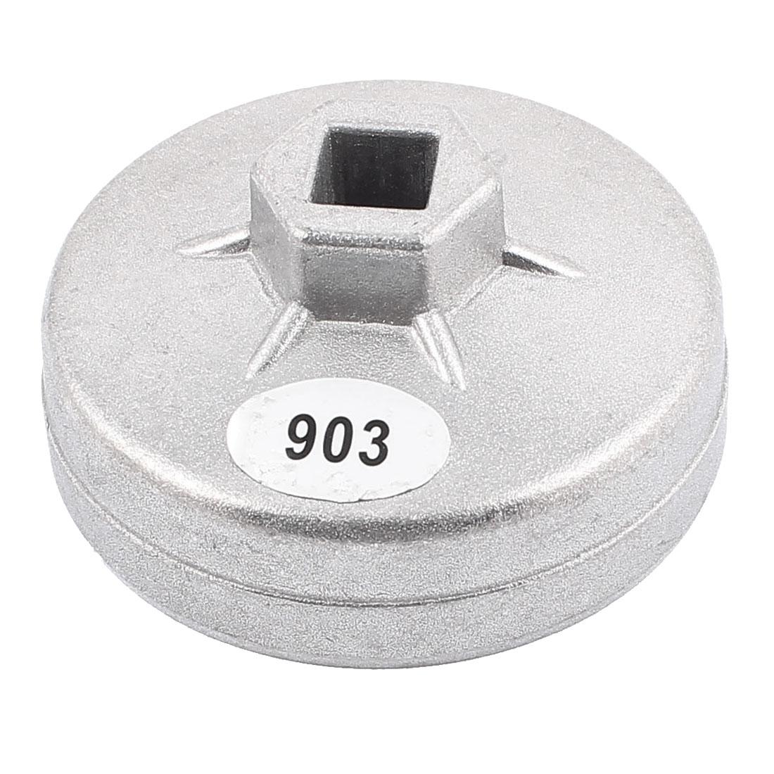 Car Aluminum Alloy 14 Flutes Oil Filter Wrench Cap Socket Tool