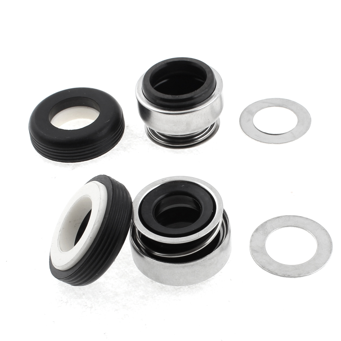 Metal Spring Mechanical Rubber Bellows Water Pump Seal 15mm Dia 2pcs