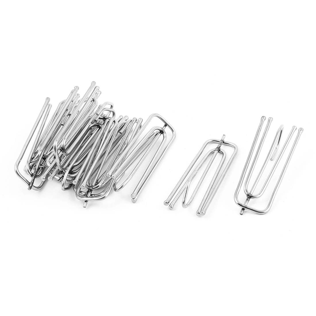 Window Treatment Curtains Drapes Hooks Pinch Pleat Prongs 12pcs Silver Tone