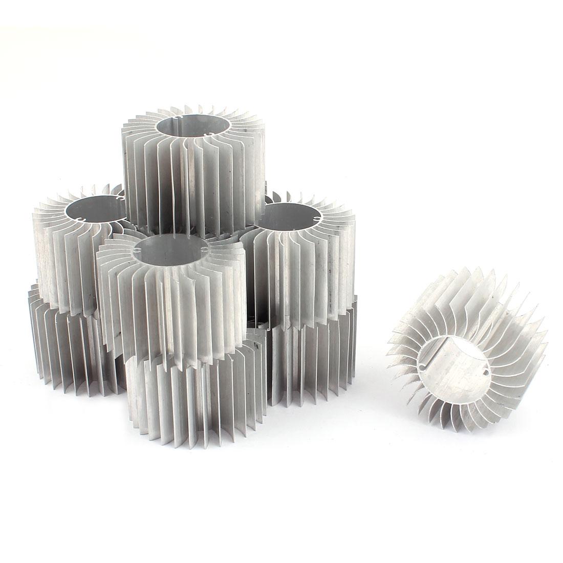 10Pcs LED Lamp Aluminum Heatsink Radiator Cooling Fin 57mmx29mmx37mm Silver Tone
