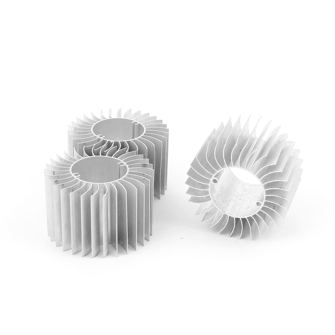 3 Pcs Led Lamp Aluminum Heatsink Radiator Cooling Fin 57mmx29mmx37mm Silver Tone