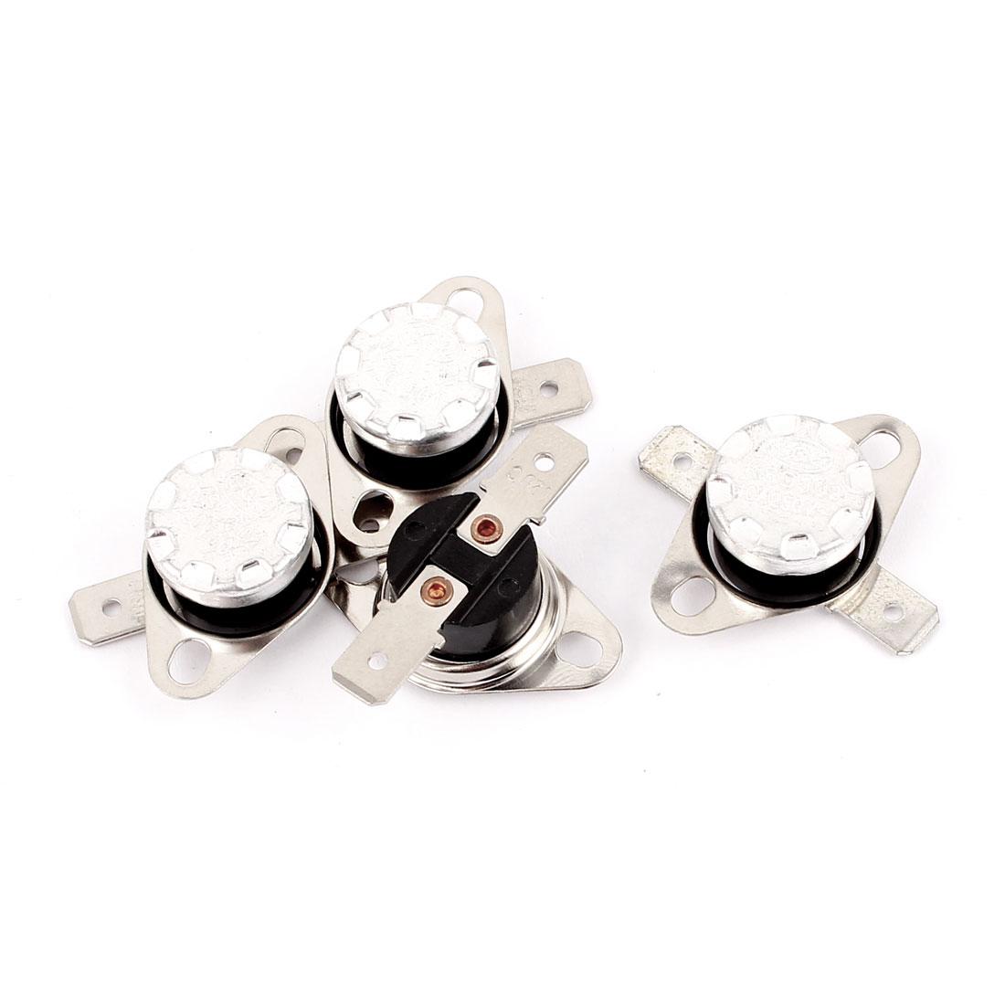 4 Pcs KSD302 Temperature Control Switch Thermostats 250VAC 10A 120 Celsius N.C.