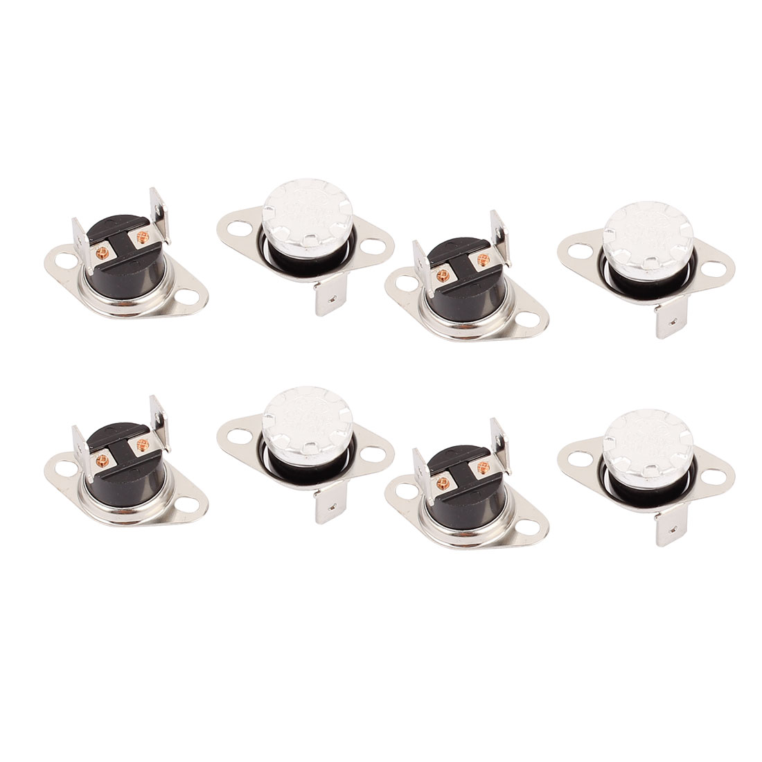 8 Pcs KSD302 Temperature Control Switch Thermostats 250VAC 10A 55 Celsius N.C.
