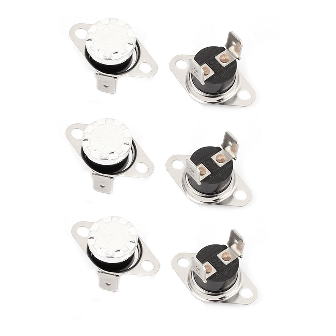 6 Pcs KSD302 Temperature Control Switch Thermostats 250VAC 10A 75 Celsius N.C.