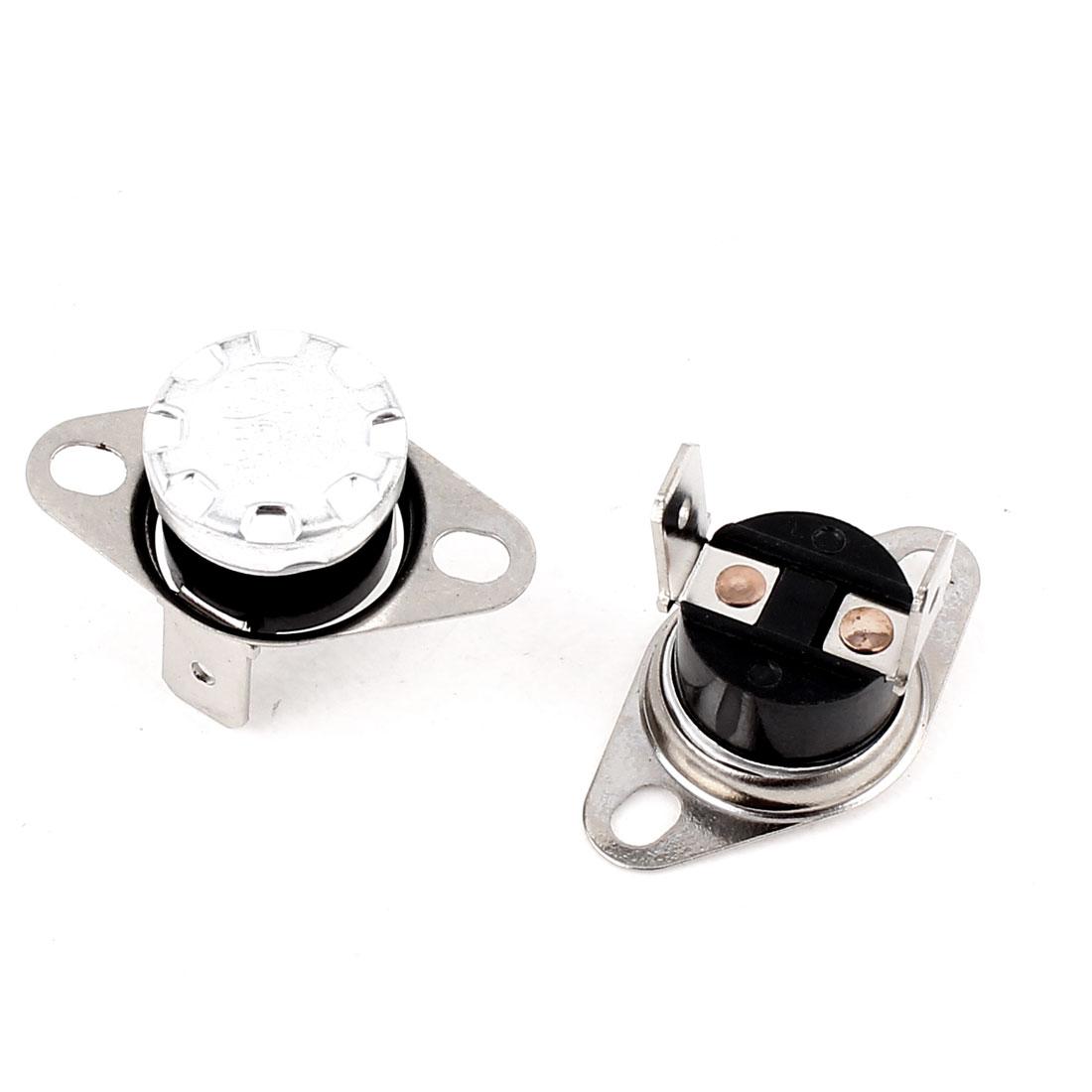 2 Pcs KSD302 Temperature Control Switch Thermostats 250VAC 10A 155 Celsius N.C.