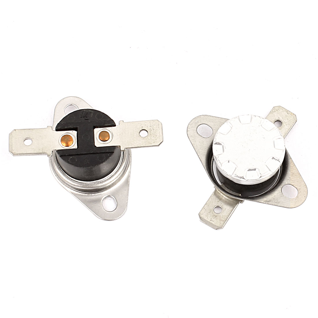 2 Pcs KSD301 Temperature Control Switch Thermostats 250VAC 10A 70 Celsius N.C.
