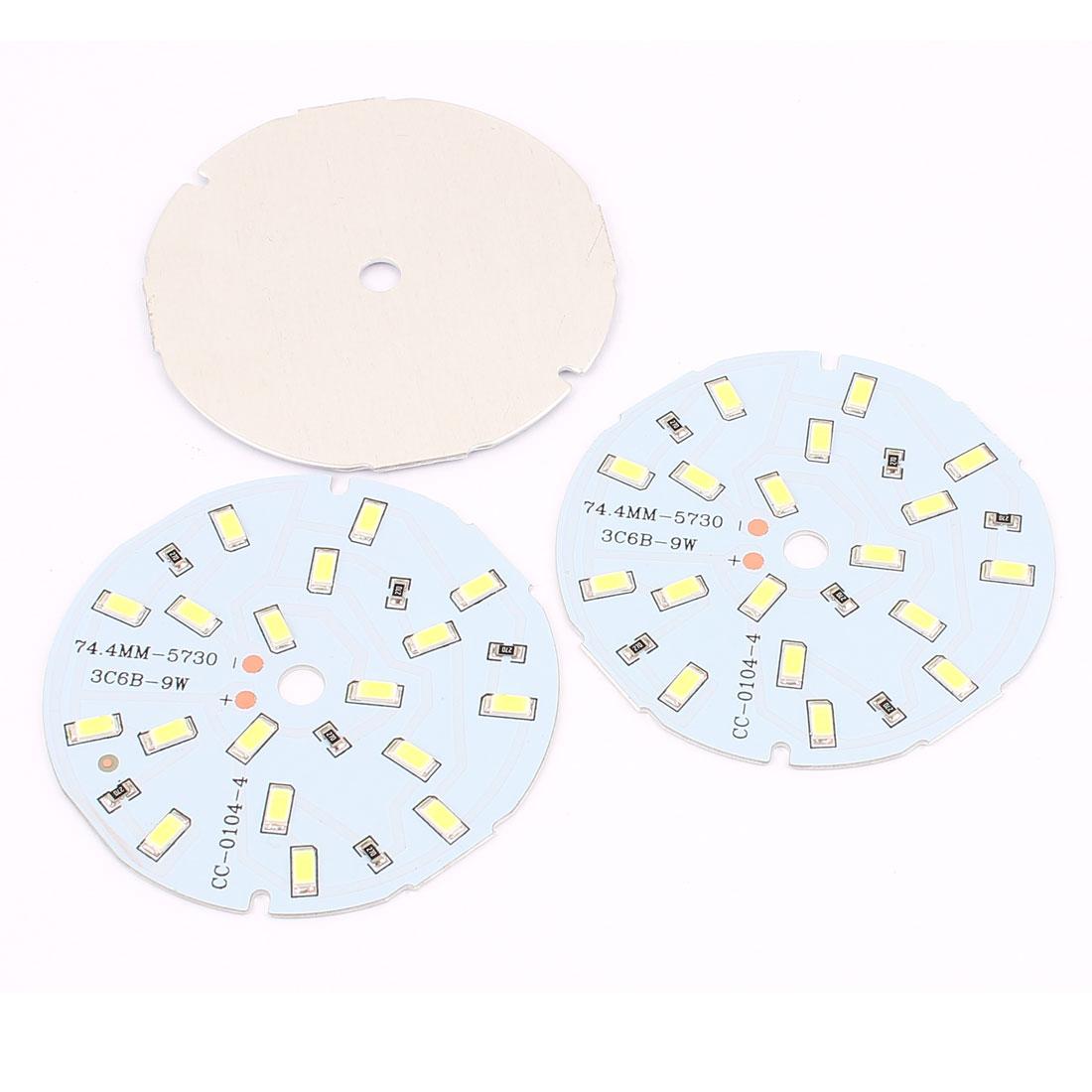 3 Pcs 9W Pure White 18 SMD 5730 LED Light Downlight Aluminum Base Plate