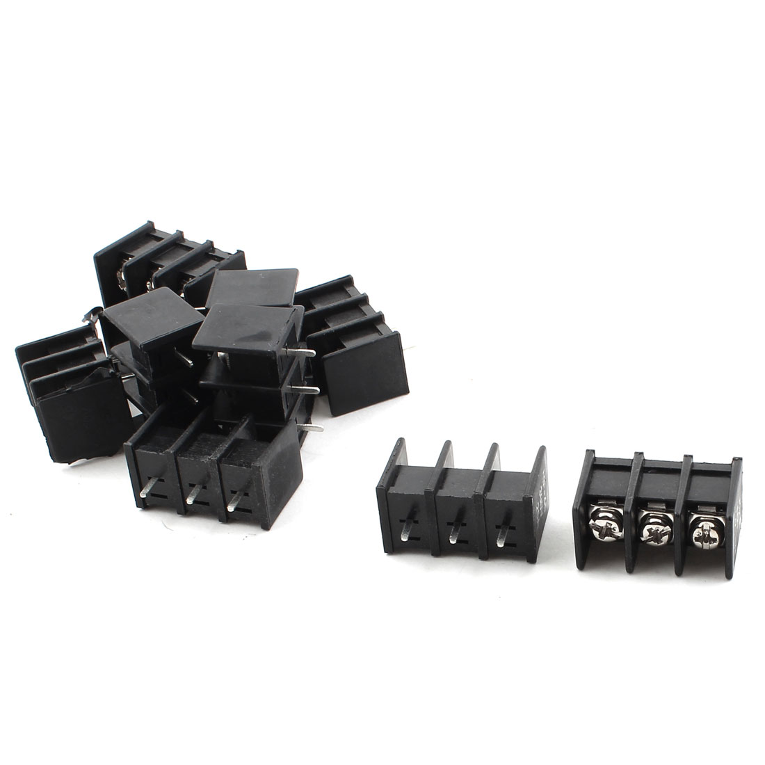 10pcs 8mm Pitch 3 Position PCB Screw Terminal Blocks Connector 300V 25A
