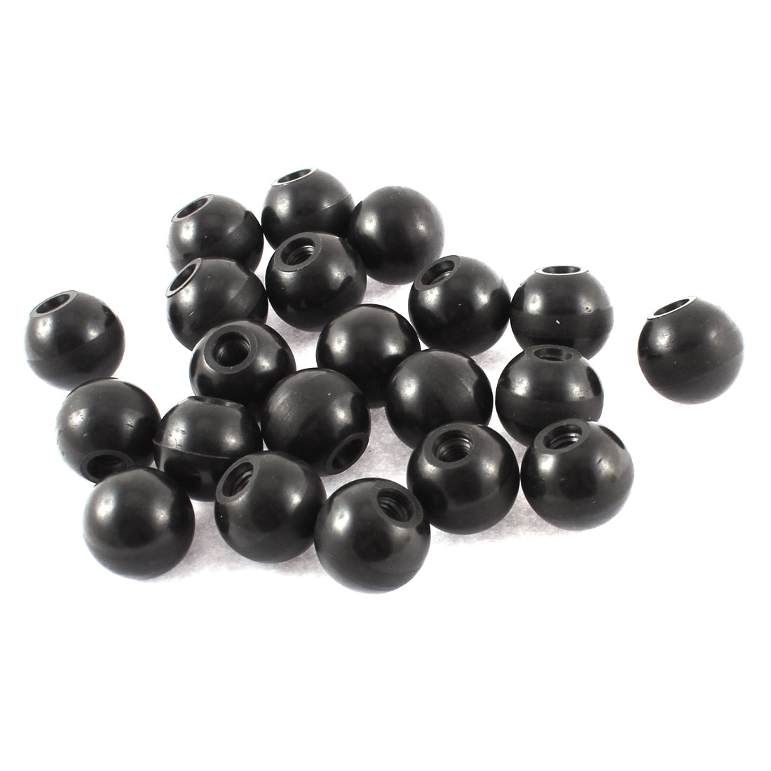 20mm Diameter M5 Thread Black Plastic Ball Handle Knob 21pcs