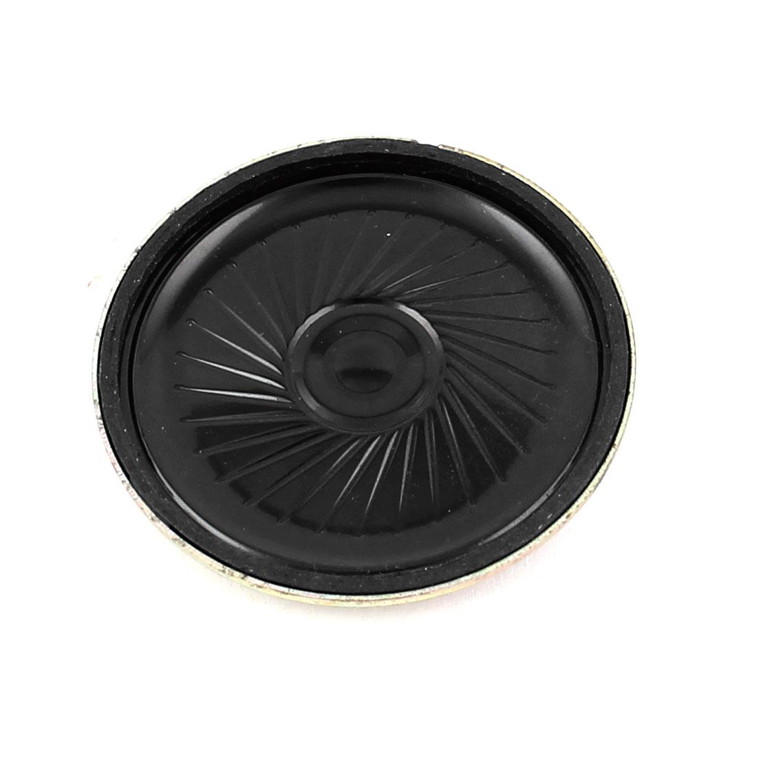 45mm 8 Ohm 0.5W Metal Shell External Magnetic Speaker Loudspeaker Gold Tone