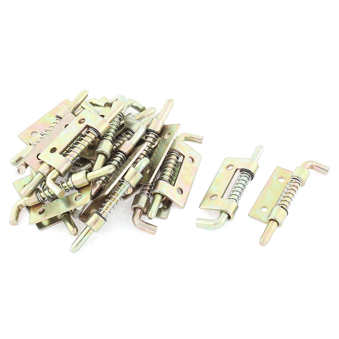 20pcs Bronze Tone Spring Loaded Door Safety Barrel Bolt Latch Lock