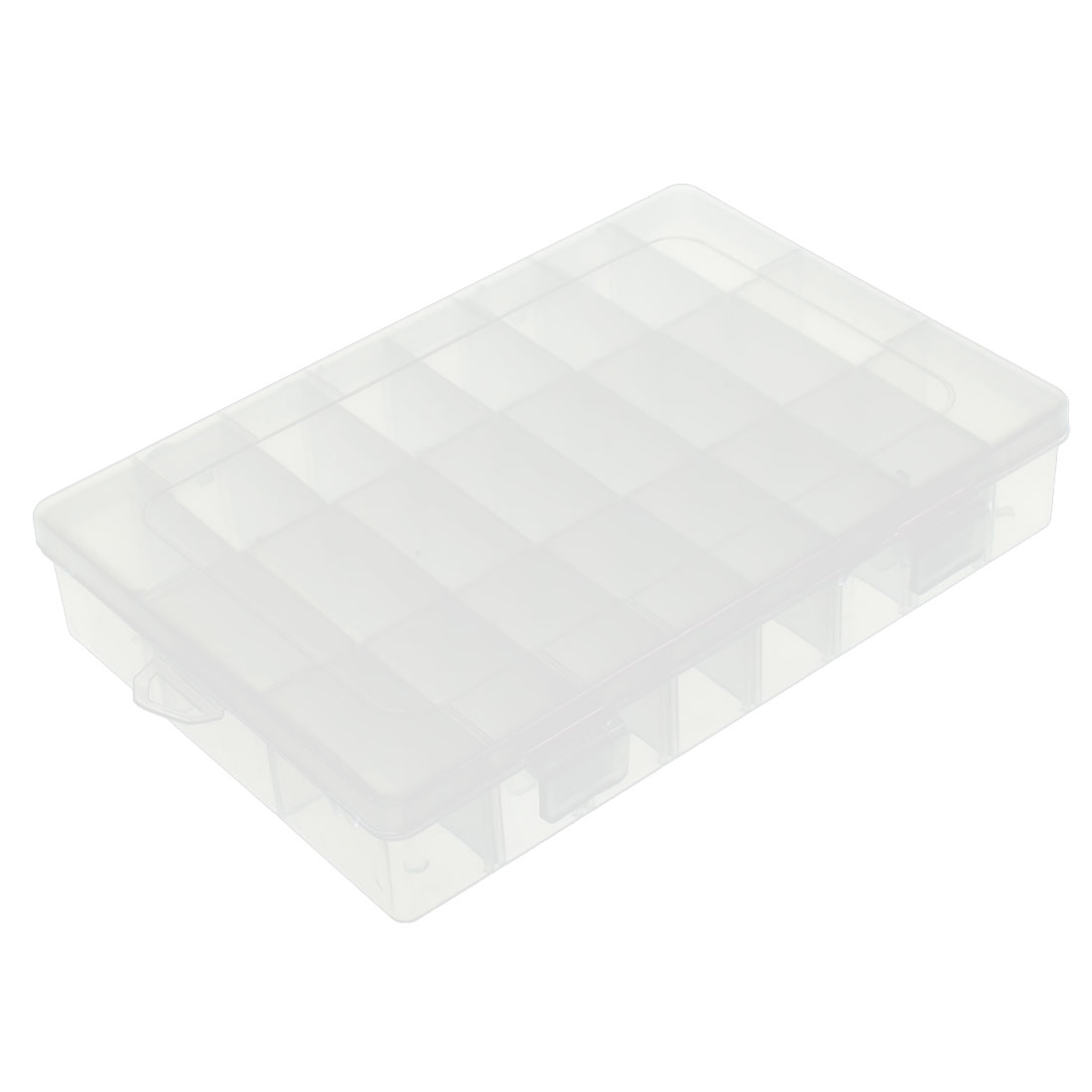 Clear Plastic Electronic Components Storage Box Container Holder