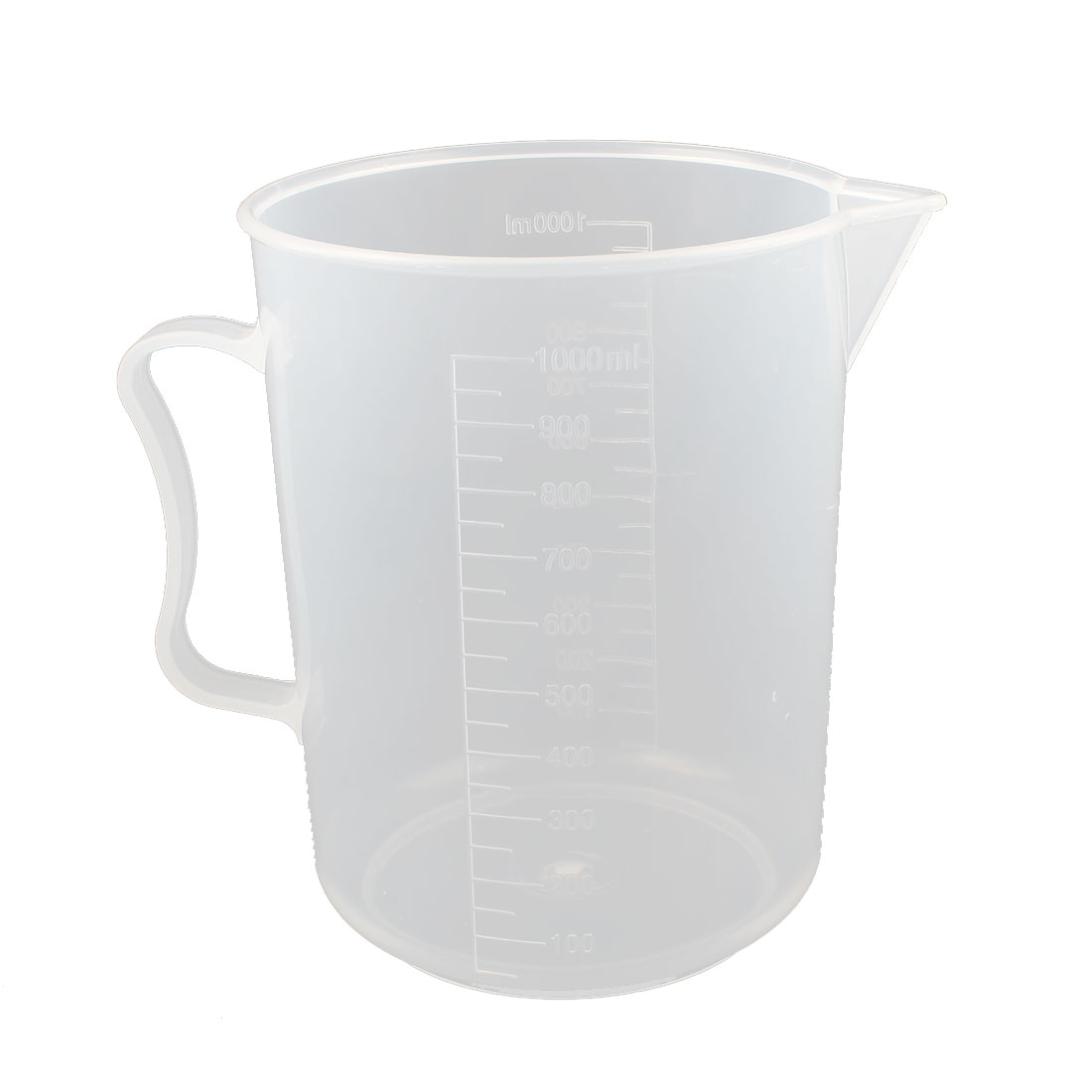 Laboratory Test Clear Plastic Graduated Measuring Beaker Cup Mug Container