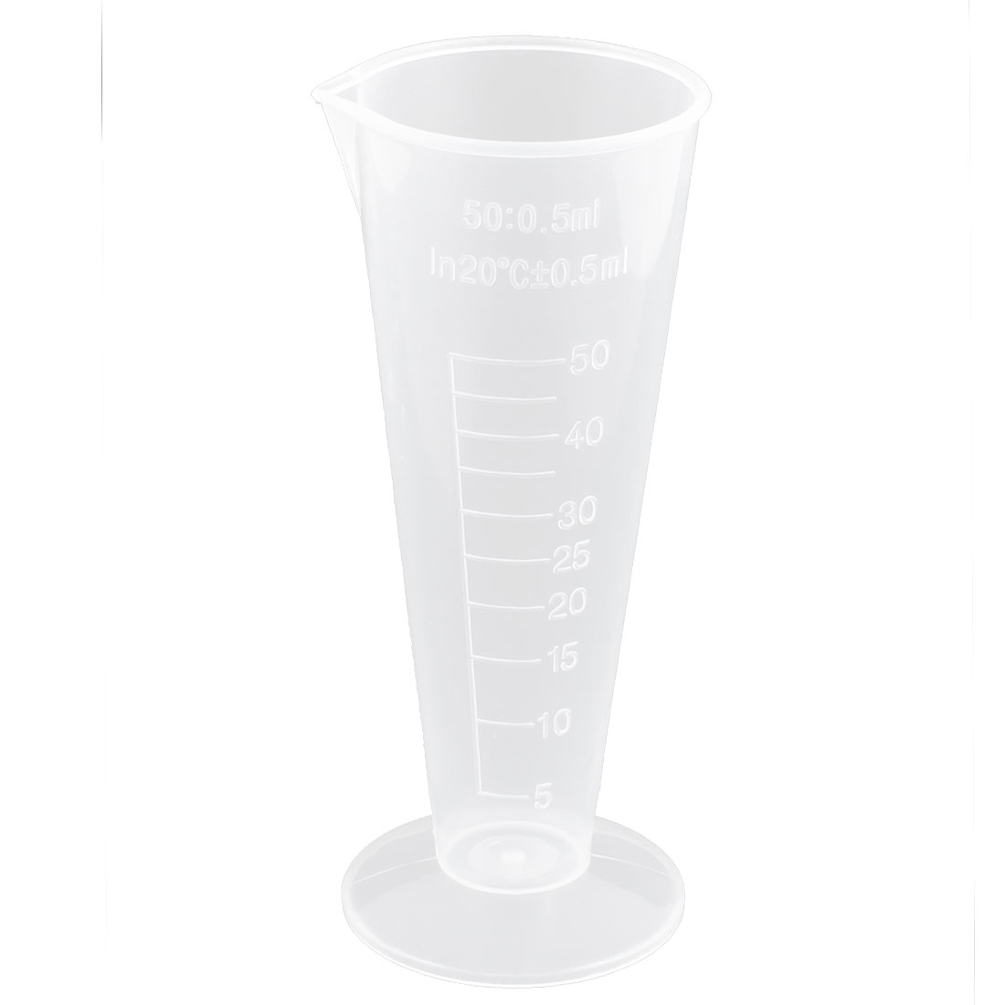 Laboratory Clear Plastic Conical Graduated Beaker Measuring Cups 5pcs